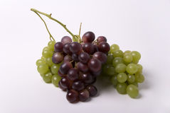 Grape. Various shapes of grape on white Stock Images
