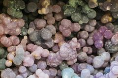grape agate mineral texture Stock Photos