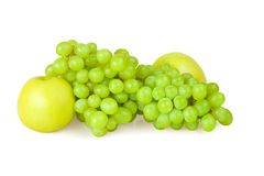 Grape And Apple Royalty Free Stock Image