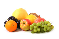 Grape and apple Stock Images