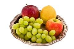 Grape apple lemon Stock Photos
