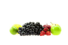 Grape apple and strawberry Royalty Free Stock Images