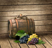 Grape and  barrel Royalty Free Stock Photos