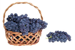 Grape in basket Royalty Free Stock Photo