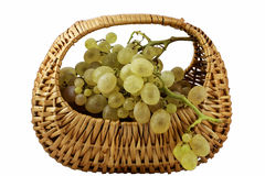 Grape basket Royalty Free Stock Photos