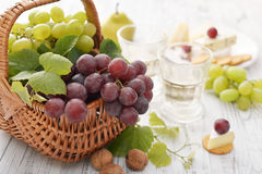 Grape in basket Stock Photo