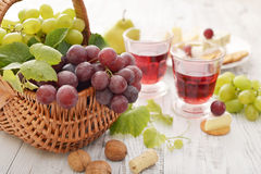 Grape in basket Stock Images