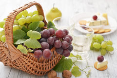 Grape in basket Stock Photography