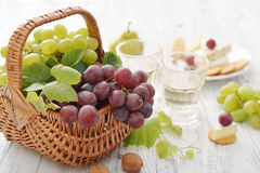 Grape in basket Stock Photos
