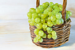 Grape in basket Royalty Free Stock Photography