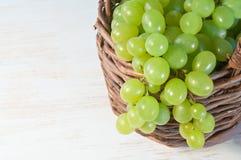 Grape in basket Stock Photos