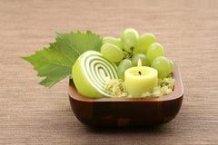 Grape bath Royalty Free Stock Images