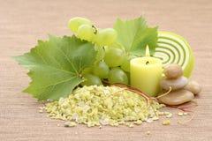 Grape bath Royalty Free Stock Image