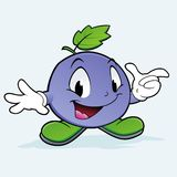 Grape Berry. Vector illustration of cartoon blueberry  for design element Stock Photo