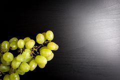 Grape on black background Royalty Free Stock Image