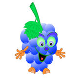 Grape blue cartoon. Illustration  funny Royalty Free Stock Images