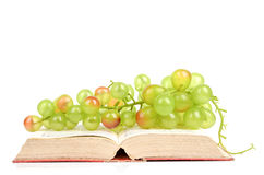 Grape and book Stock Photos