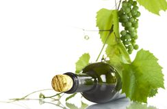 Grape and bottle Royalty Free Stock Photo
