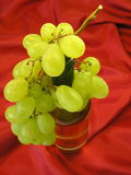 Grape and bottle of wine stock photo