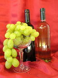 Grape and bottle of wine Royalty Free Stock Photo
