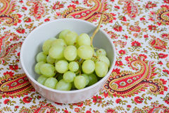 Grape in bowl Stock Image