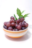 Grape in bowl Royalty Free Stock Images
