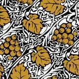 Grape branch background vector illustration
