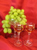 Grape and brendy Stock Image