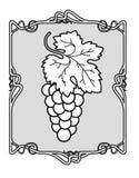 Grape Brunch Frame stock illustration