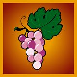 Grape bunch on red background Royalty Free Stock Images