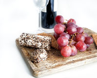 Grape and cheese Royalty Free Stock Photos