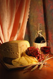 Grape, cheese and wine. Still-life with grape, cheese and wine Stock Photo