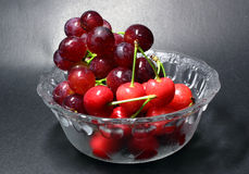 Grape and cherry Stock Photo