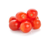 Grape or cherry tomatoes. Isolated on white background Stock Photography