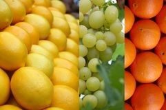 Grape and citrus Stock Photo