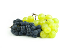 Grape cluster. On white backgorund. Shot in studio royalty free stock image