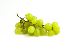 Grape cluster. On white backgorund. Shot in studio stock photo