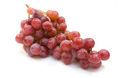 Grape cluster. Pink grape cluster isolated on white stock images