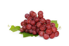 Grape cluster. Very clean grape  isolated on white background Royalty Free Stock Images