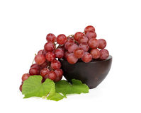 Grape cluster. Very clean grape on white isolated Stock Image