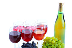 Grape cluster and wine Royalty Free Stock Photo