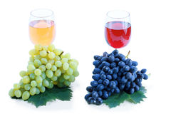 Grape cluster and wine Stock Image