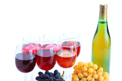 Grape cluster and wine Stock Photography
