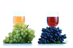 Grape cluster and wine Royalty Free Stock Photos
