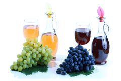Grape cluster and wine Stock Photo