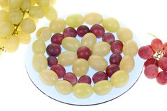 Grape clusters royalty free stock photos