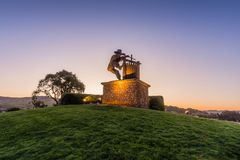 The Grape Crusher Monument of Napa royalty free stock photo
