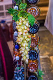 Grape on decorative column Royalty Free Stock Images
