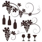 Grape design elements. Stock Images