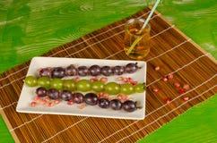 Grape dessert for children Stock Photography